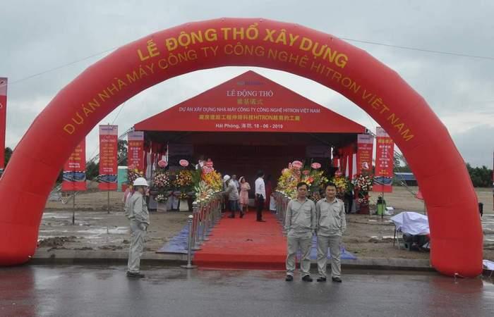 Lễ Động thổ khởi công Nhà máy Hitron KCN VSIP Hải Phòng