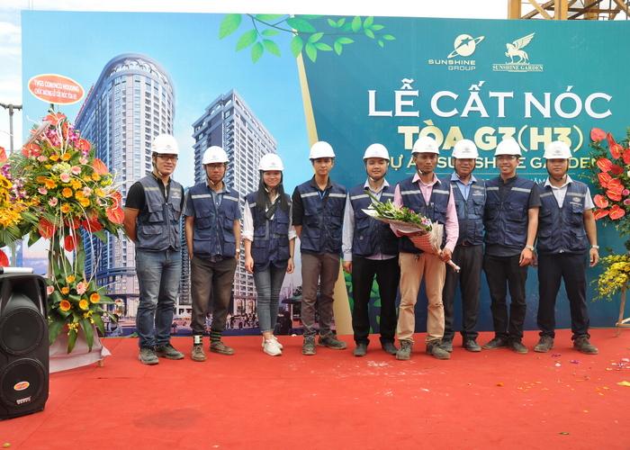 Lễ cất nóc chung cư H3 Sao Ánh Dương - Quận Hoàng Mai - Hà Nội