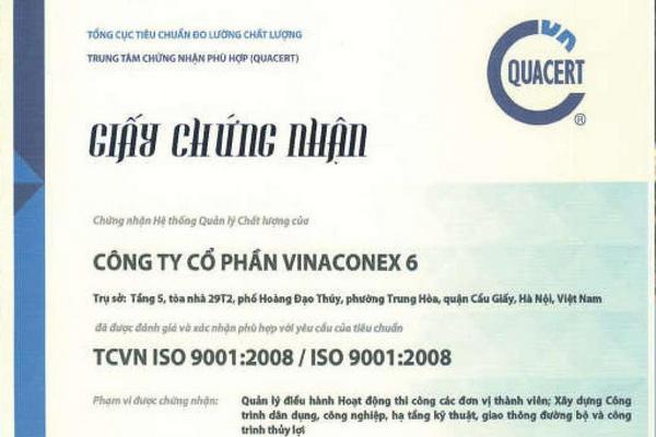 Giấy chứng nhận TCVN ISO 9001:2008