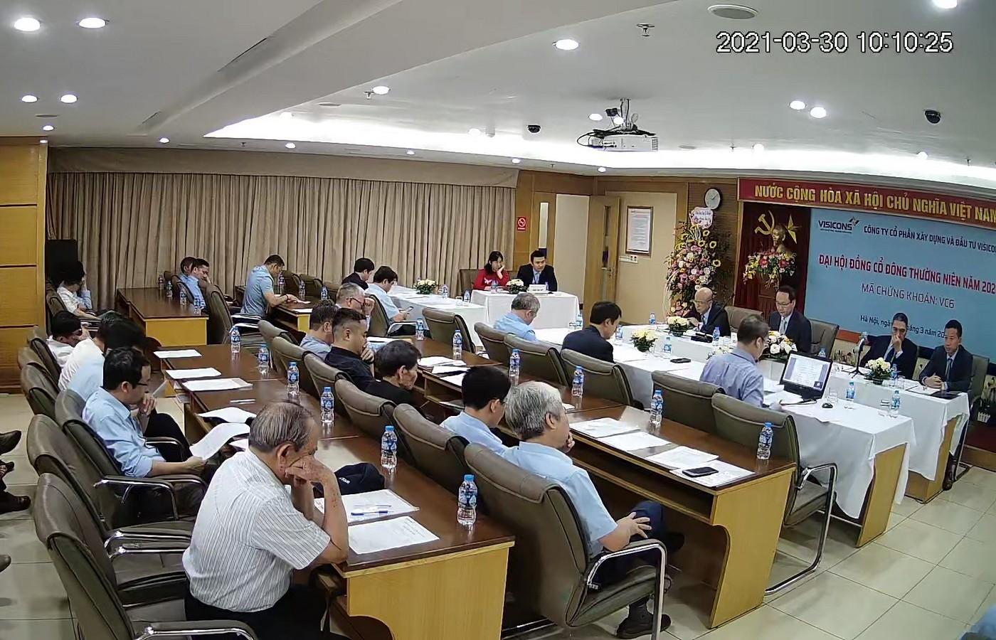 Đại hội đồng cổ đông thường niên năm 2021 Công ty CP Xây dựng và Đầu tư Visicons