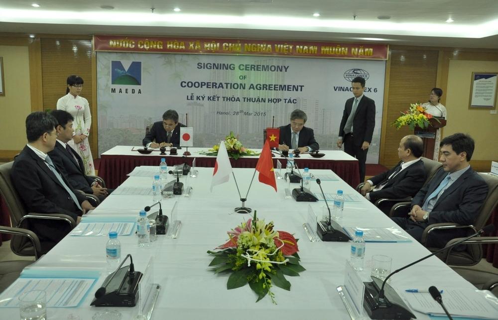 Lễ ký kết thỏa thuận hợp tác giữa Công ty CP Vinaconex6 và Maeda Corp
