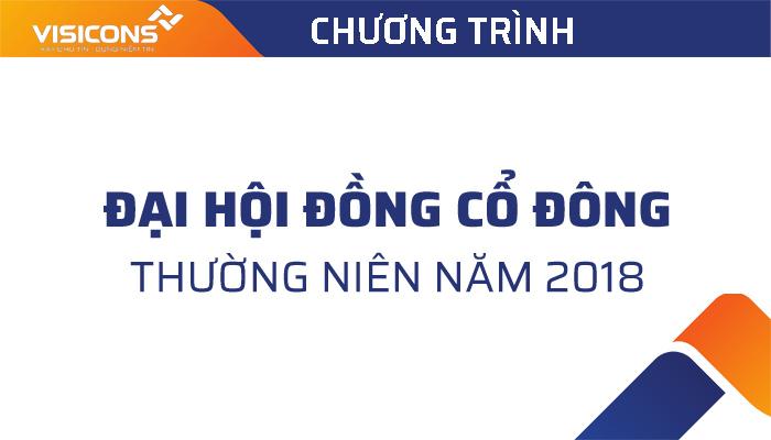 Chương trình Đại hội đồng cổ đông thường niên năm 2018