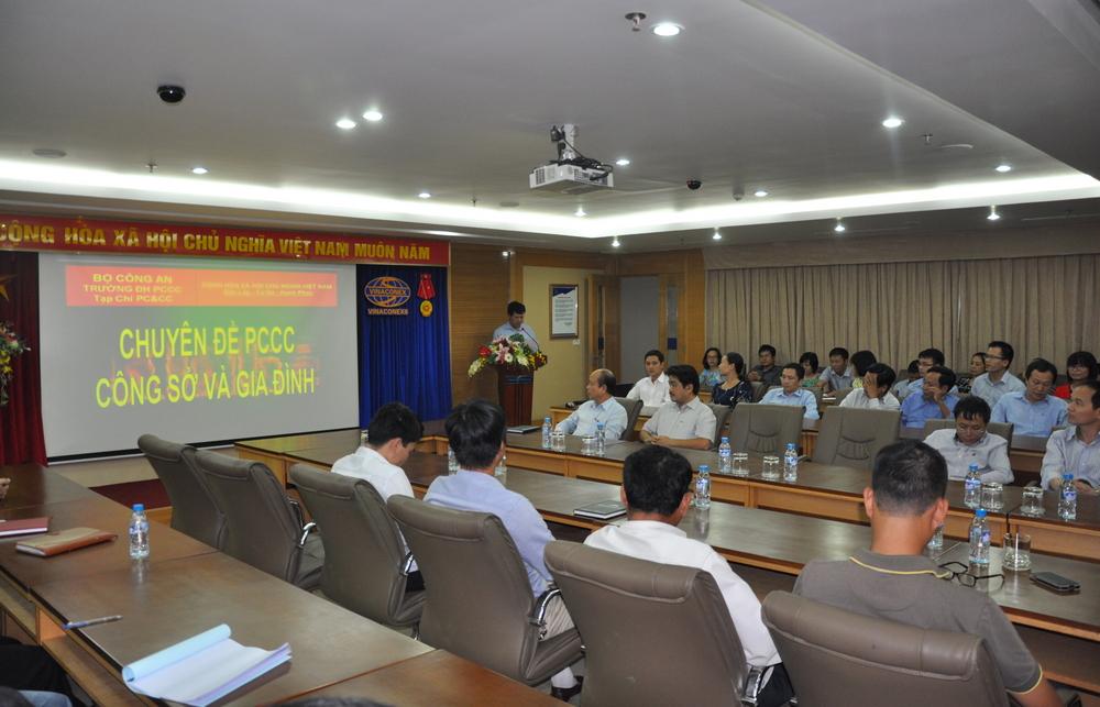 Vinaconex6 tổ chức tập huấn, diễn tập ứng phó tình huống khẩn cấp