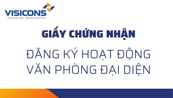 Công bố thông tin về việc Giấy chứng nhận ĐKHĐ văn phòng đại diện tại TP. Hồ Chí Minh