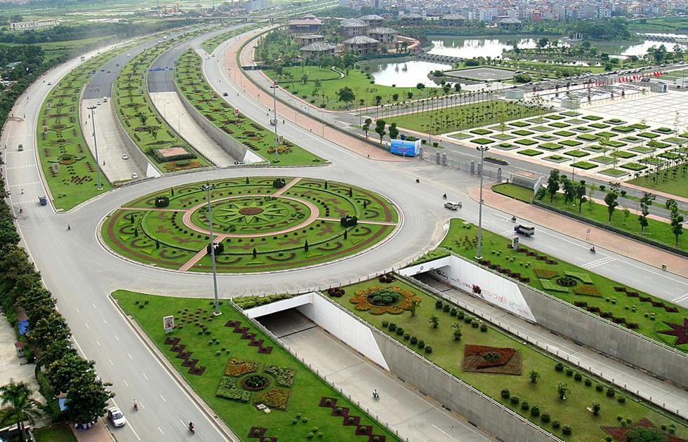 Nút giao thông đường cao tốc Láng - Hòa Lạc