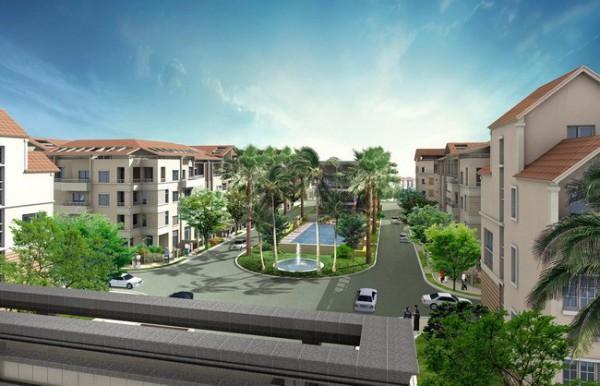 Cảnh quan tại Khu nhà liền kề thuộc Dự án Xây dựng (GĐ1) - phát triển KĐT mới Bắc An Khánh