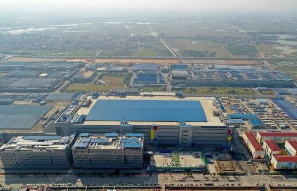 khu nhà xưởng sản xuất màn hình V3 tại nhà máy Samsung Bắc Ninh